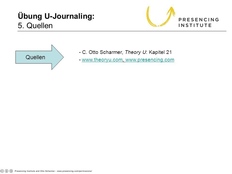 Übung U-Journaling: 5. Quellen