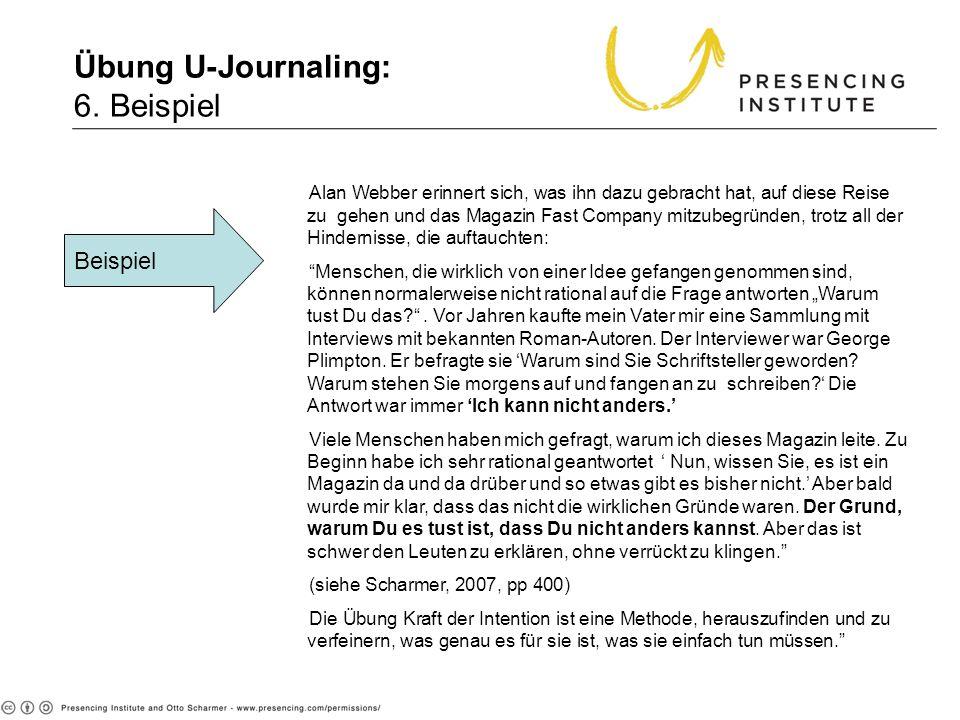 Übung U-Journaling: 6. Beispiel