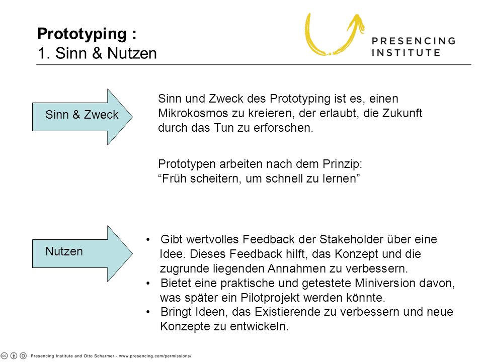 Prototyping : 1. Sinn & Nutzen