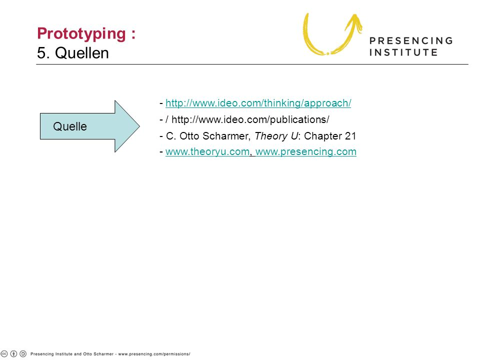 Prototyping : 5. Quellen Quelle http://www.ideo.com/thinking/approach/