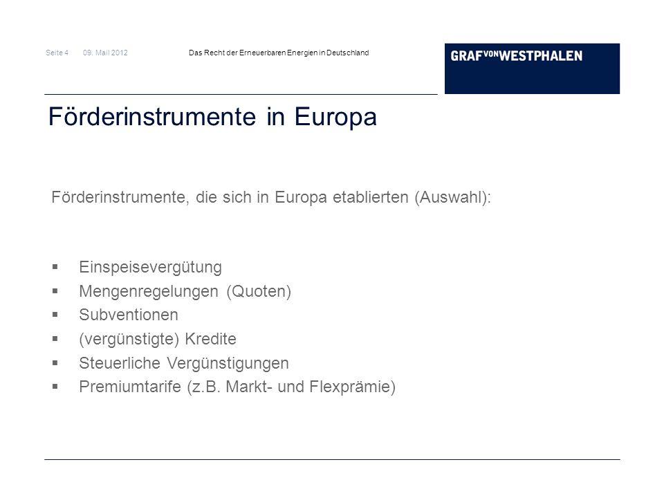 Förderinstrumente in Europa