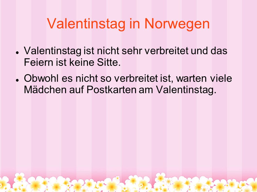 Valentinstag in Norwegen