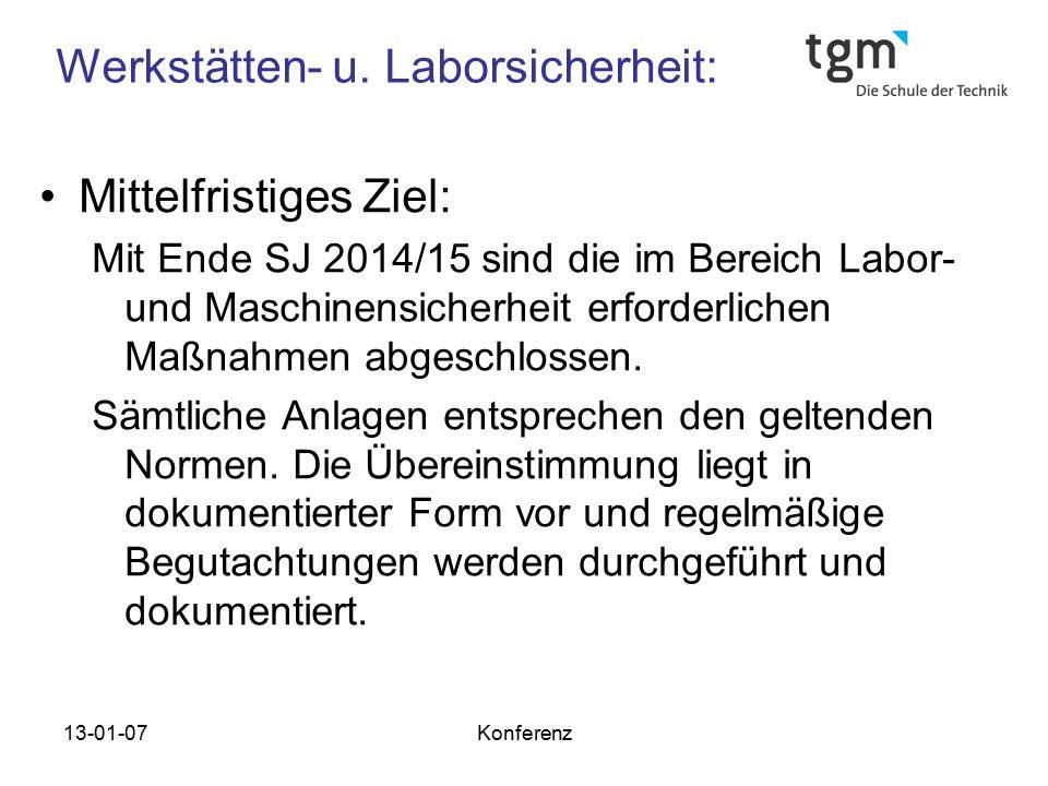 Werkstätten- u. Laborsicherheit: