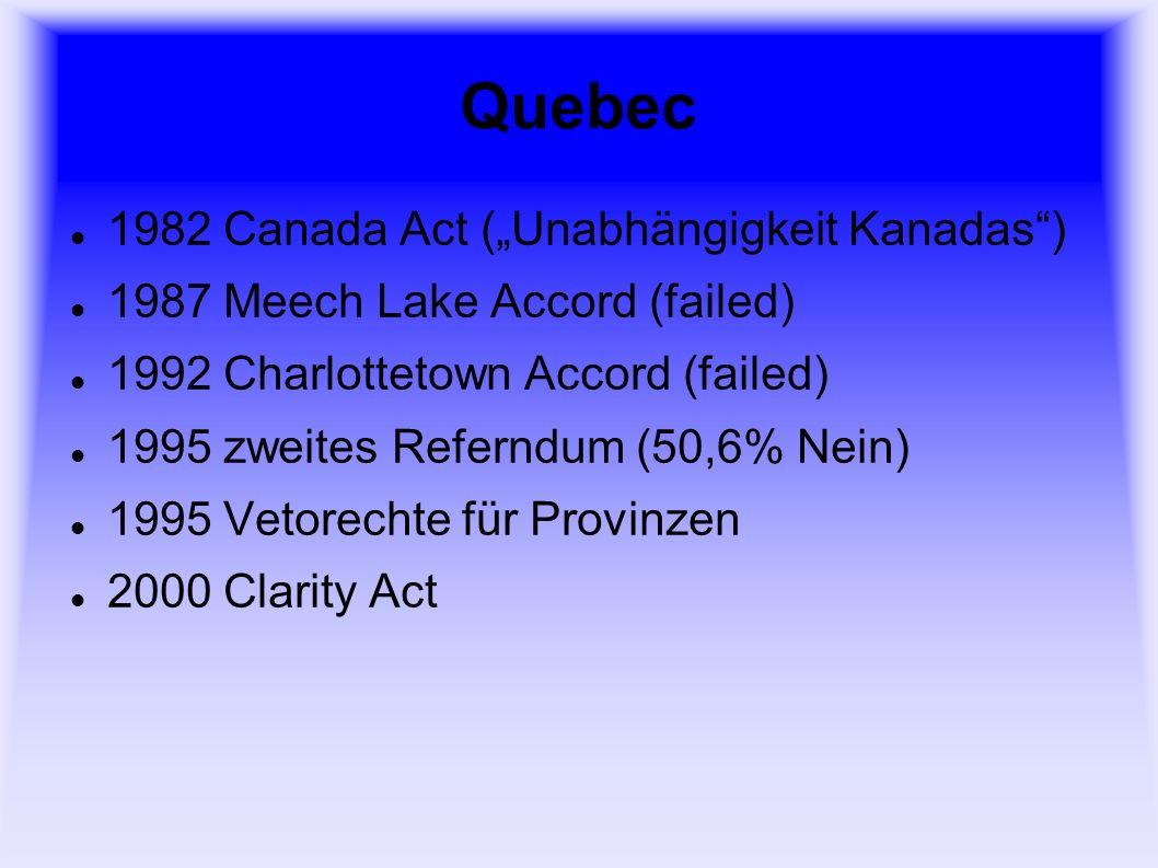 """Quebec 1982 Canada Act (""""Unabhängigkeit Kanadas )"""