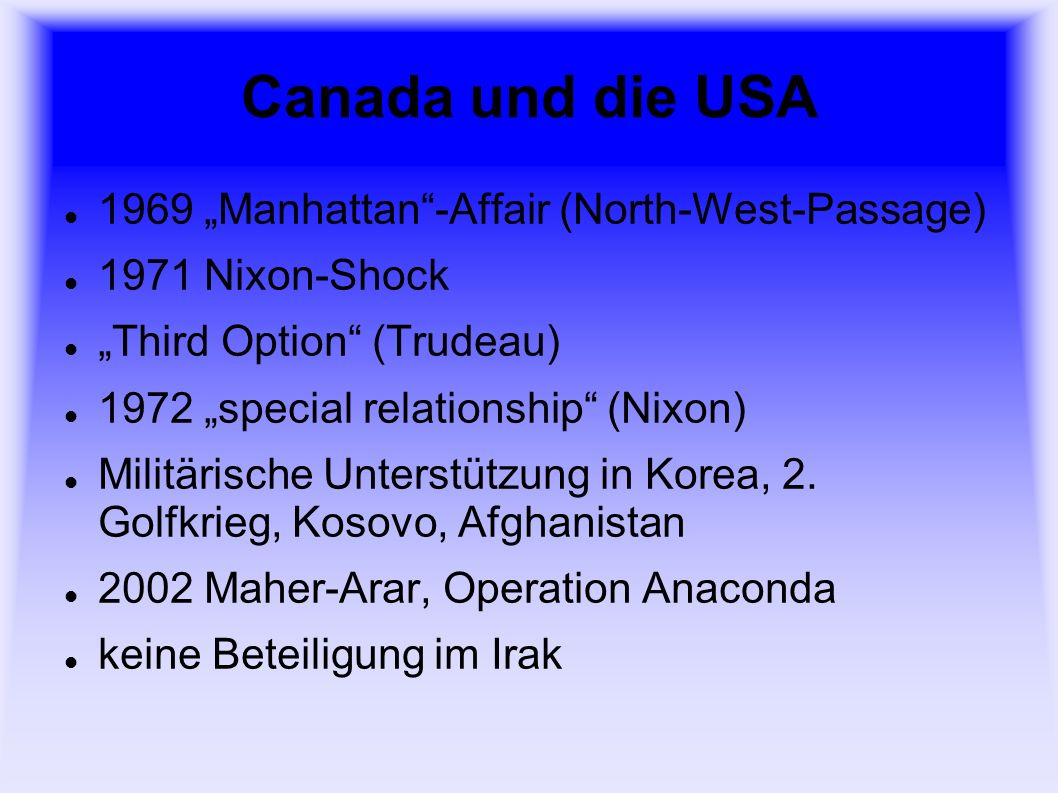 "Canada und die USA 1969 ""Manhattan -Affair (North-West-Passage)"