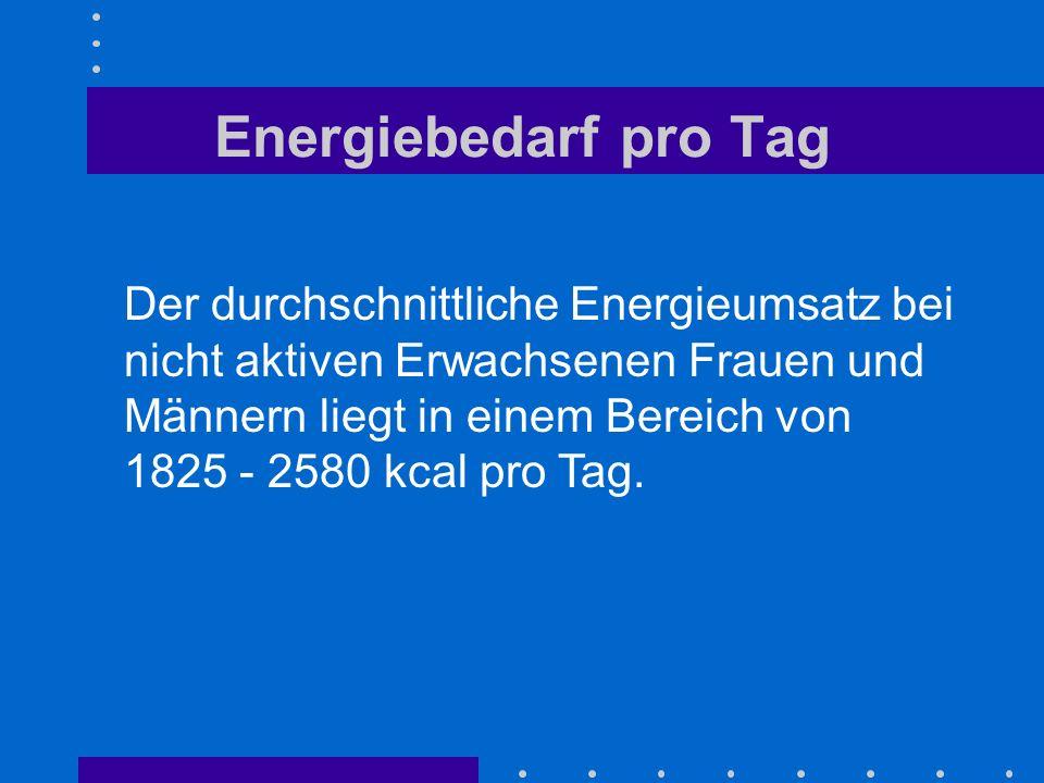 Energiebedarf pro Tag