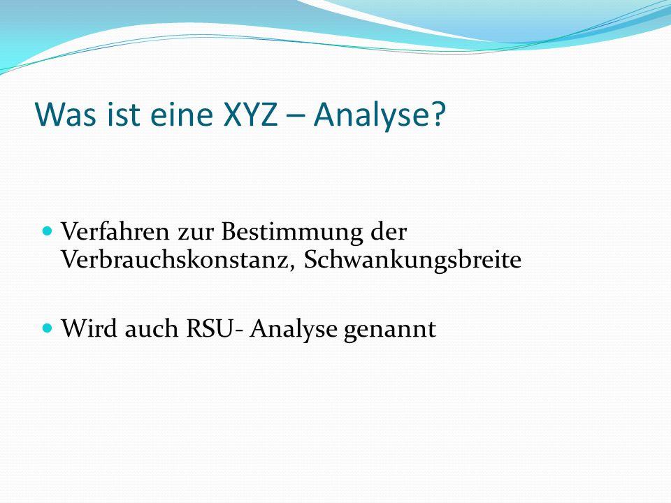 Was ist eine XYZ – Analyse