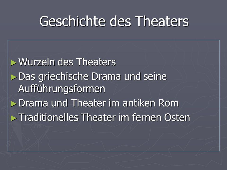 Geschichte des Theaters