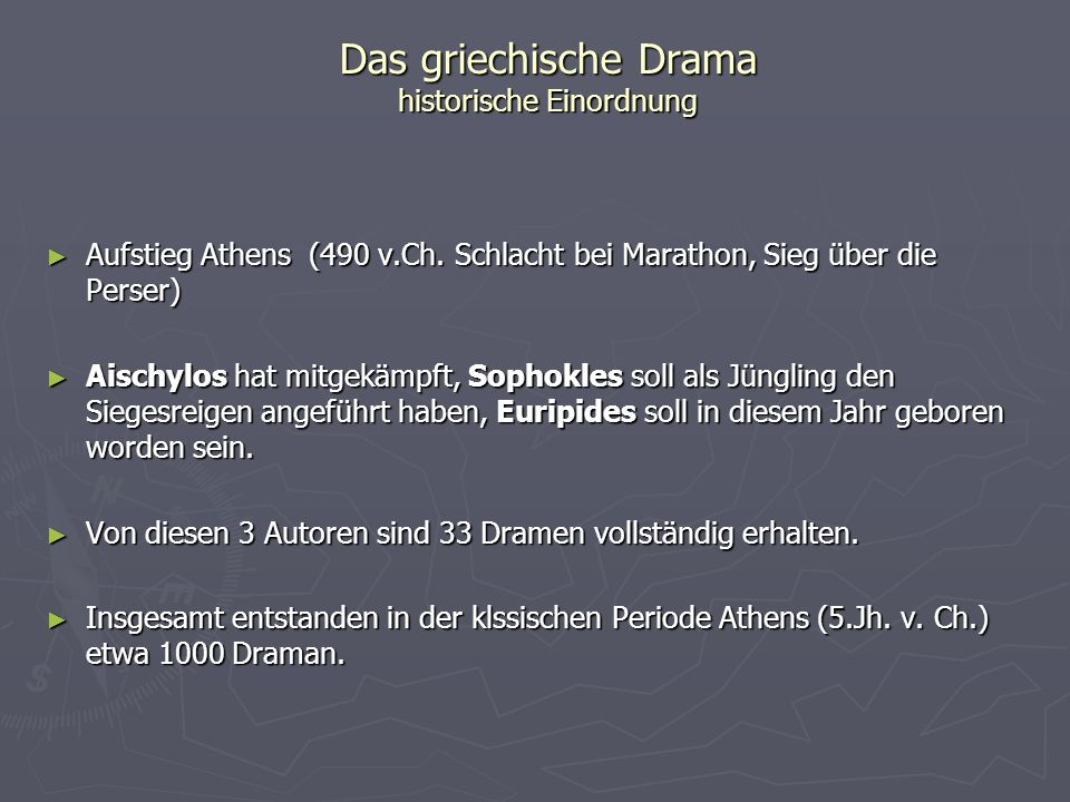 Das griechische Drama historische Einordnung