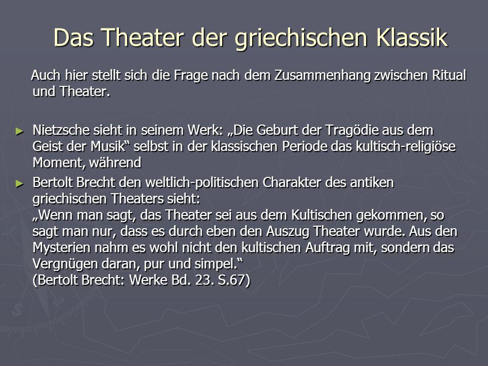 Das Theater der griechischen Klassik