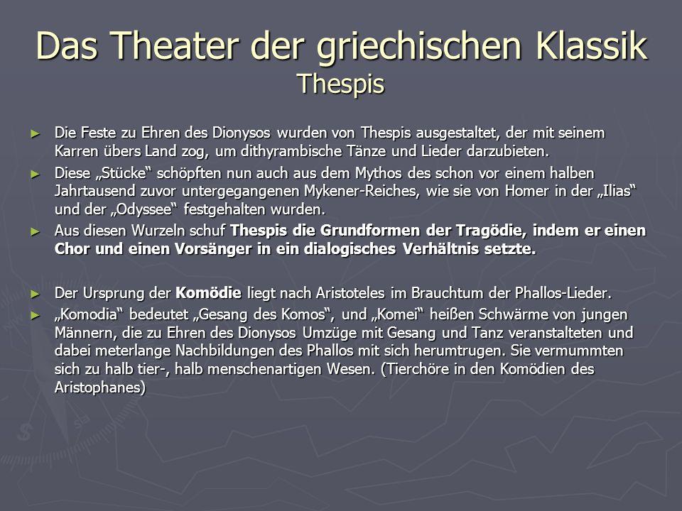 Das Theater der griechischen Klassik Thespis