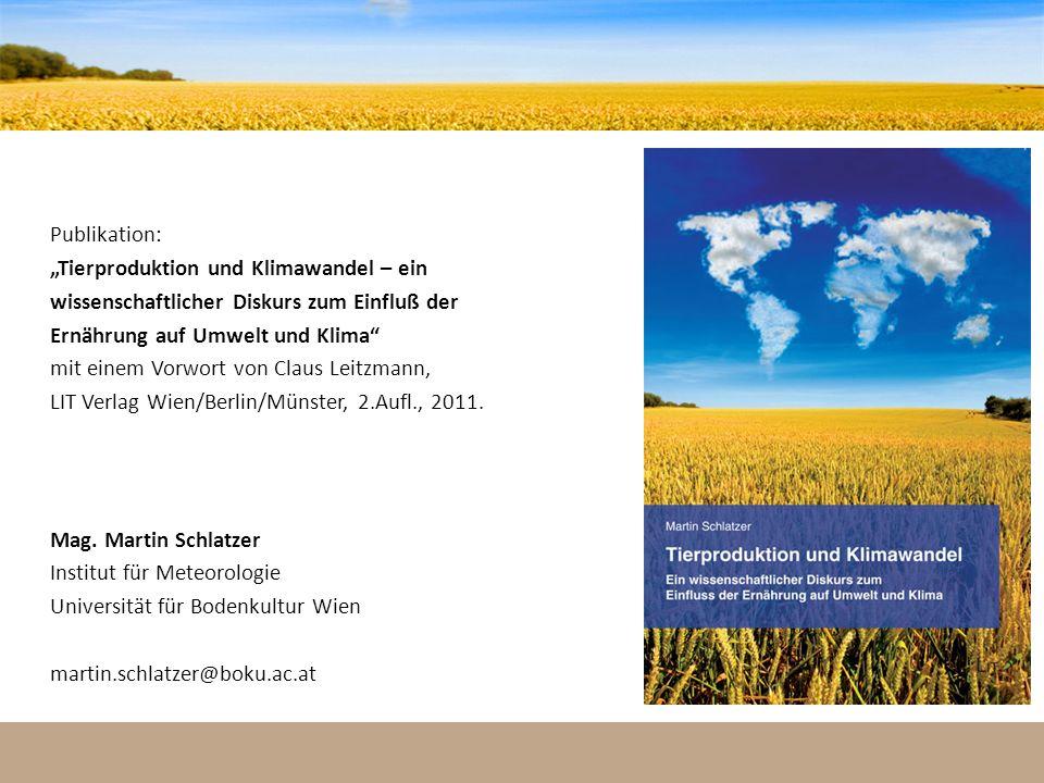 """""""Tierproduktion und Klimawandel – ein"""