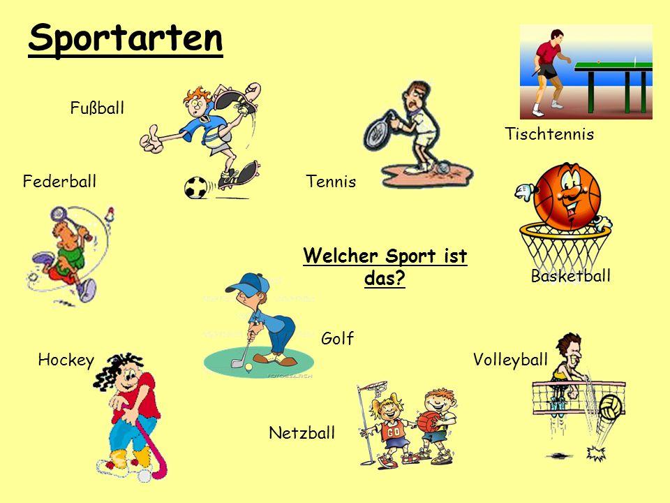 Sportarten Welcher Sport ist das Fußball Tischtennis Federball Tennis