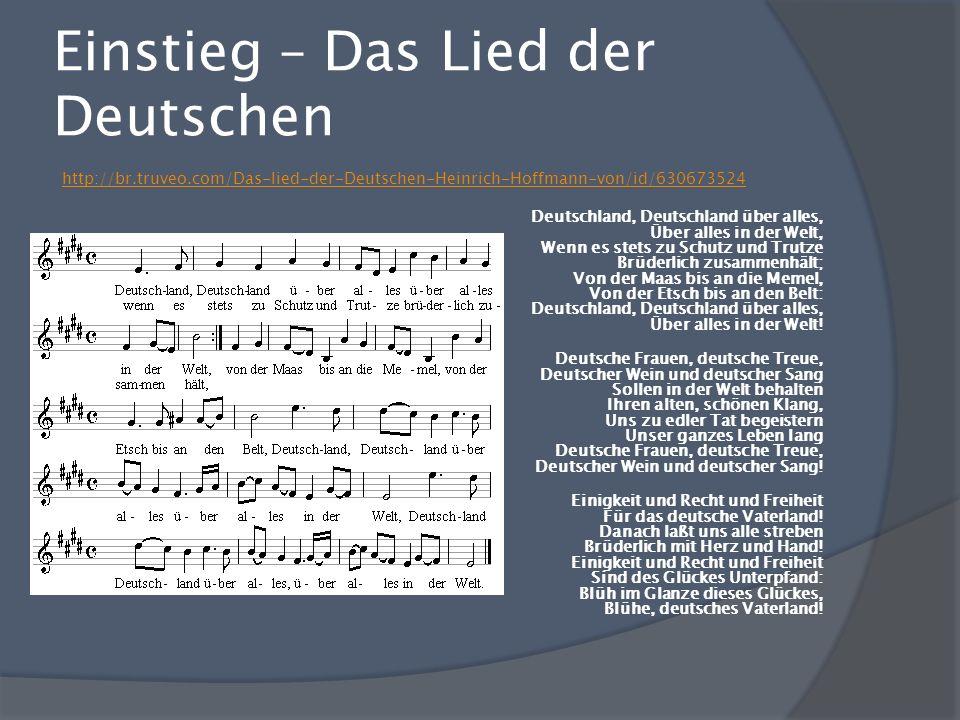 Einstieg – Das Lied der Deutschen