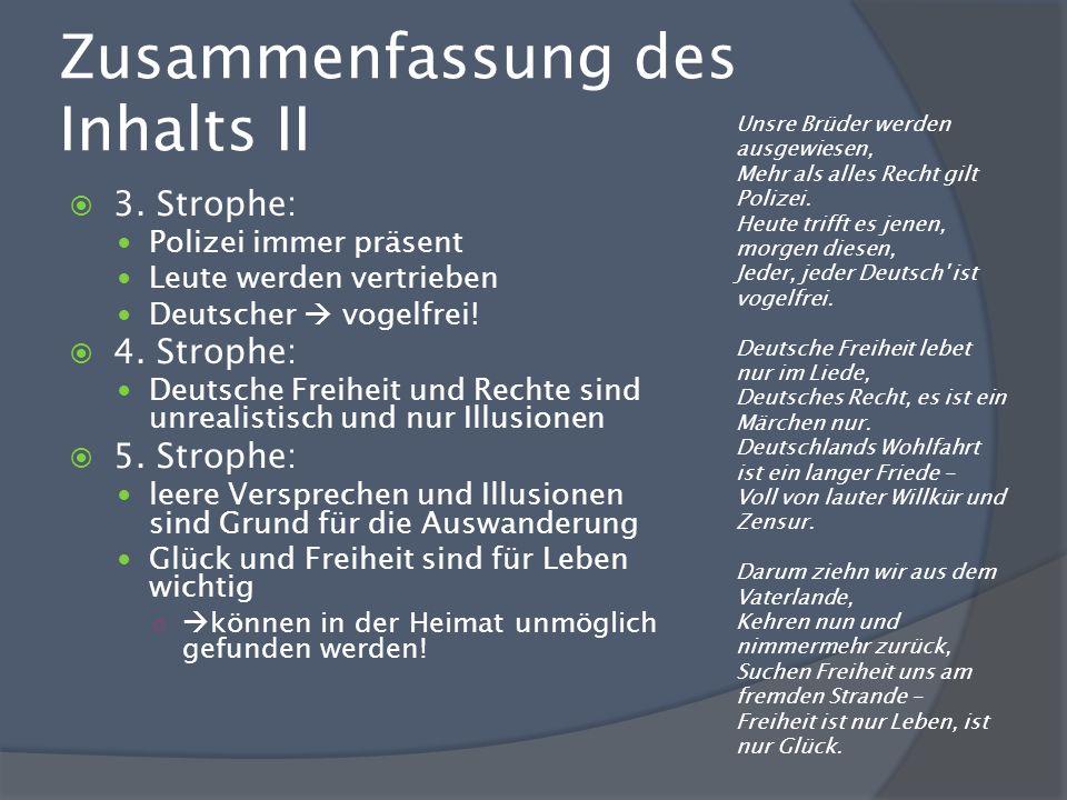 Zusammenfassung des Inhalts II