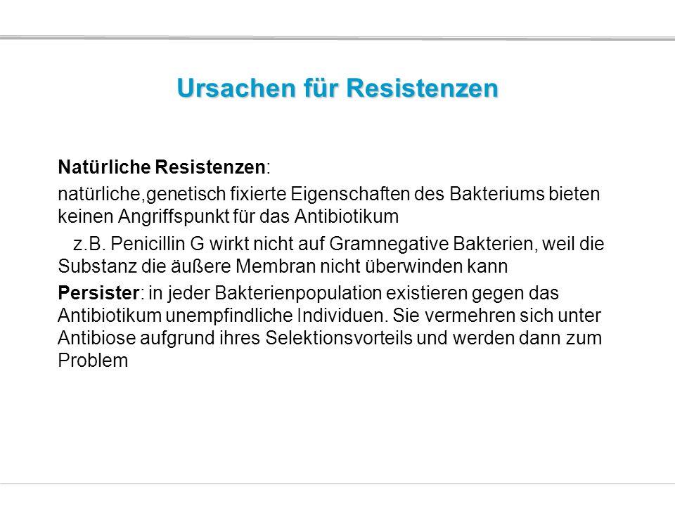 Ursachen für Resistenzen