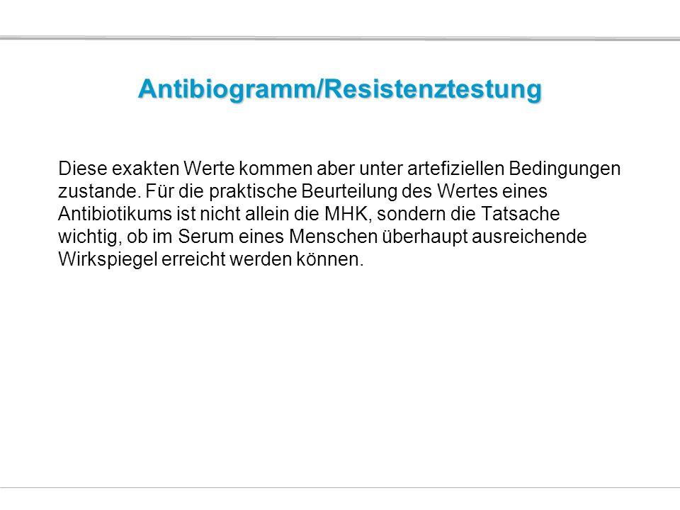 Antibiogramm/Resistenztestung