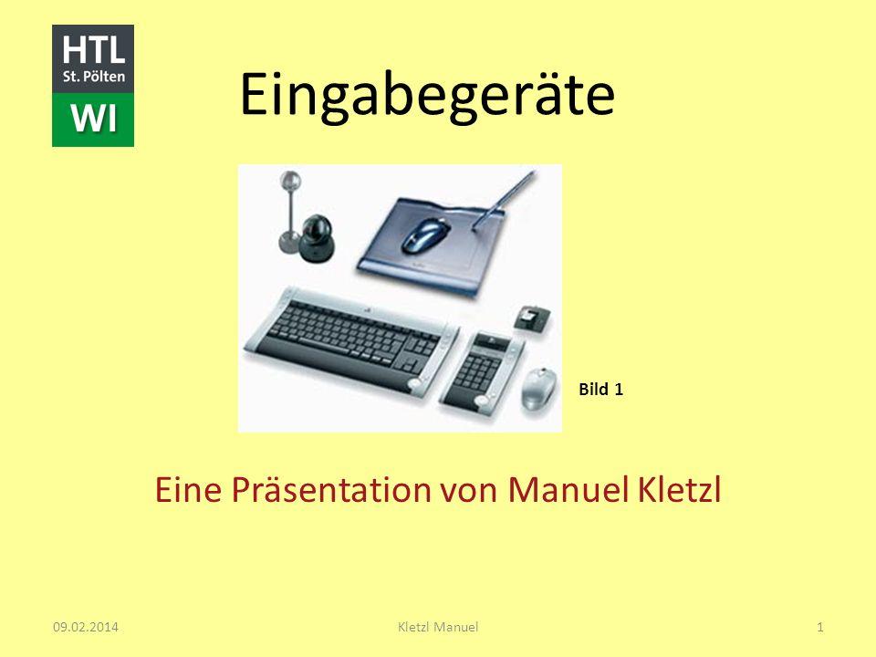 Bild 1 Eine Präsentation von Manuel Kletzl