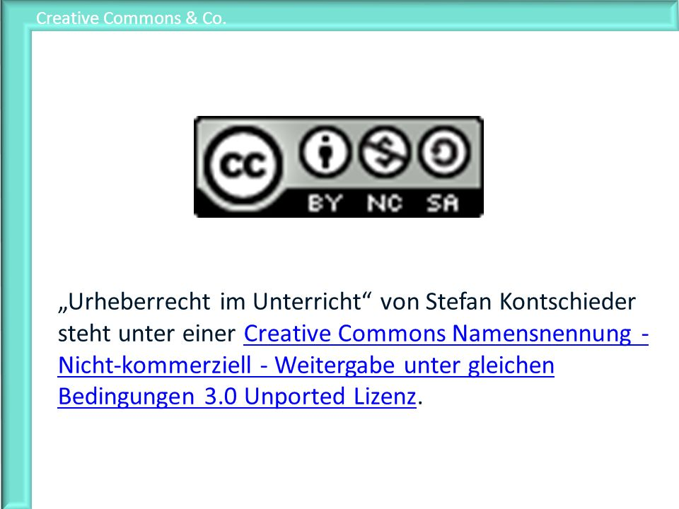 Creative Commons & Co.