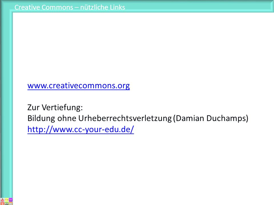 Creative Commons – nützliche Links