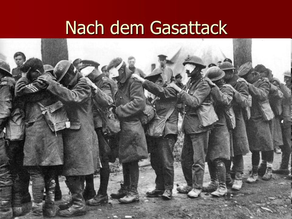 Nach dem Gasattack