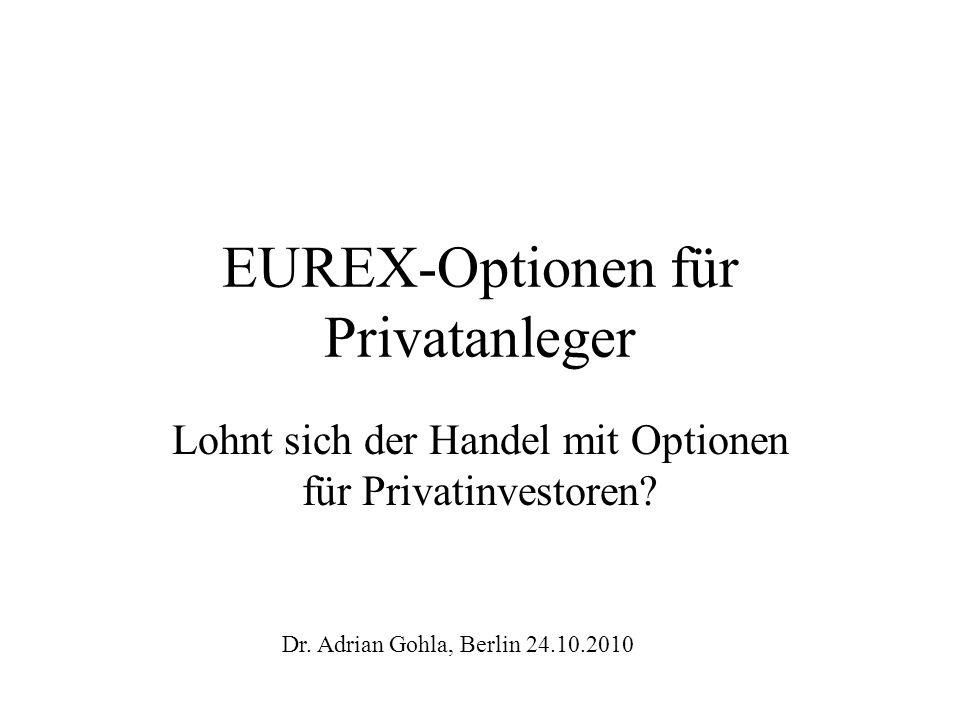 EUREX-Optionen für Privatanleger