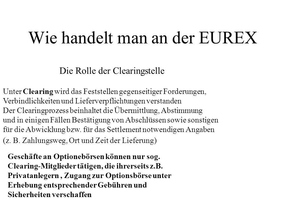 Wie handelt man an der EUREX