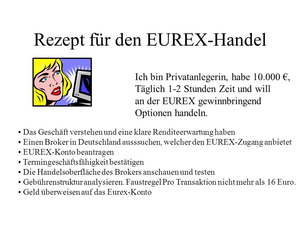 Rezept für den EUREX-Handel