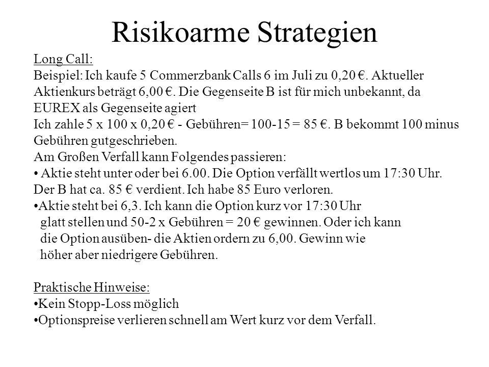 Risikoarme Strategien