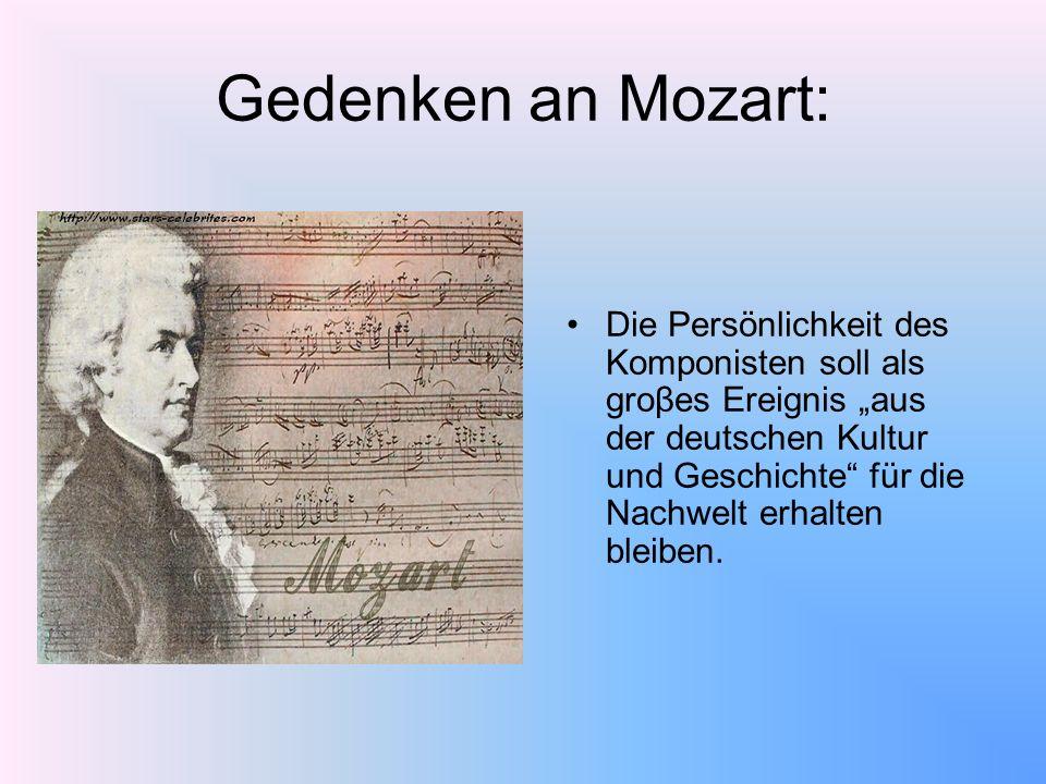 Gedenken an Mozart: