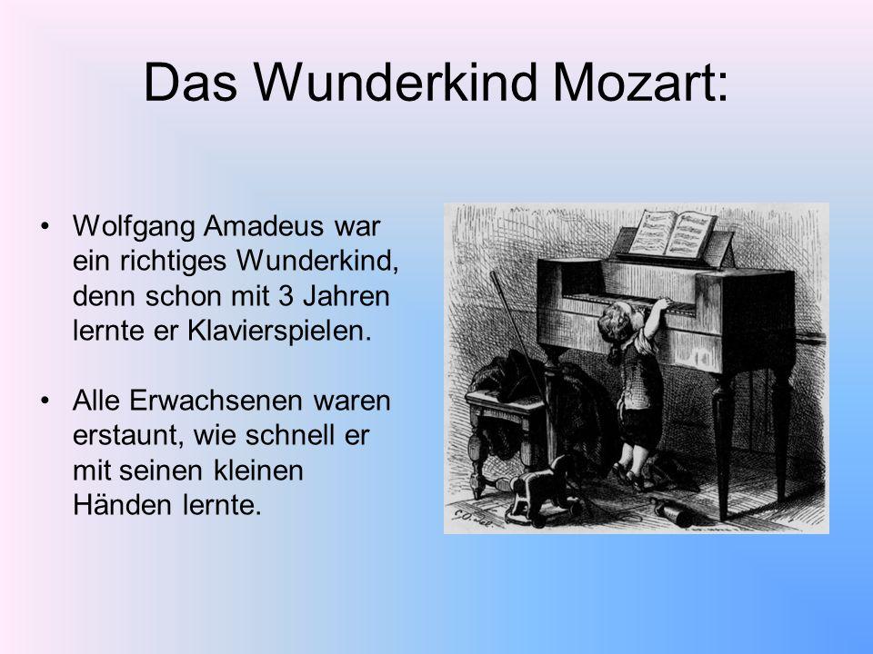 Das Wunderkind Mozart: