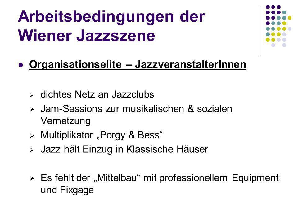 Arbeitsbedingungen der Wiener Jazzszene