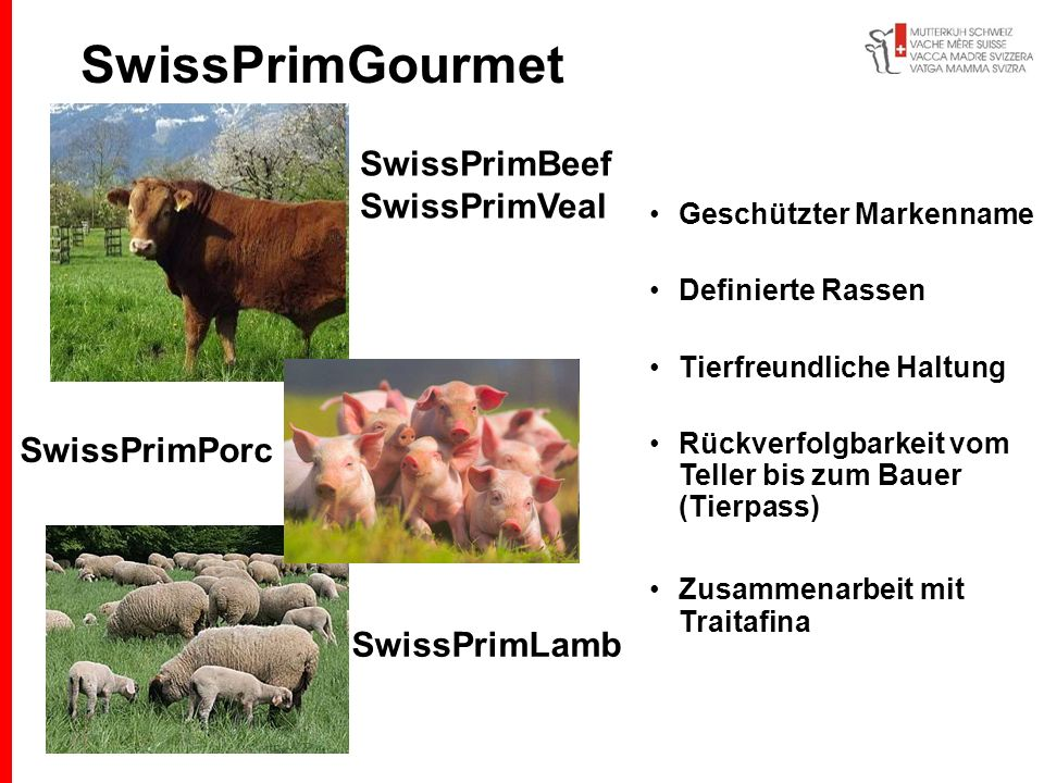 SwissPrimGourmet SwissPrimBeef SwissPrimVeal SwissPrimPorc