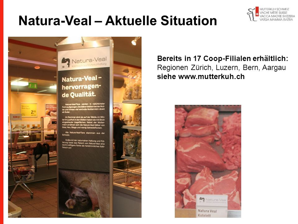 Natura-Veal – Aktuelle Situation