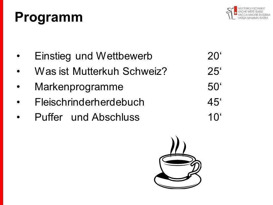 Programm Einstieg und Wettbewerb 20' Was ist Mutterkuh Schweiz 25'