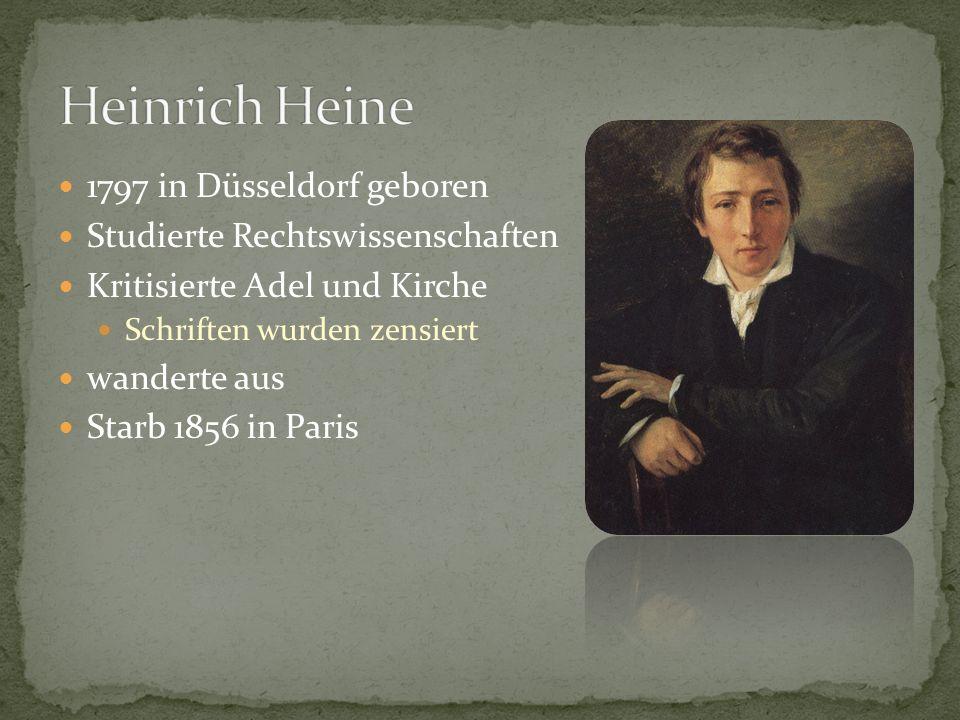 Heinrich Heine 1797 in Düsseldorf geboren