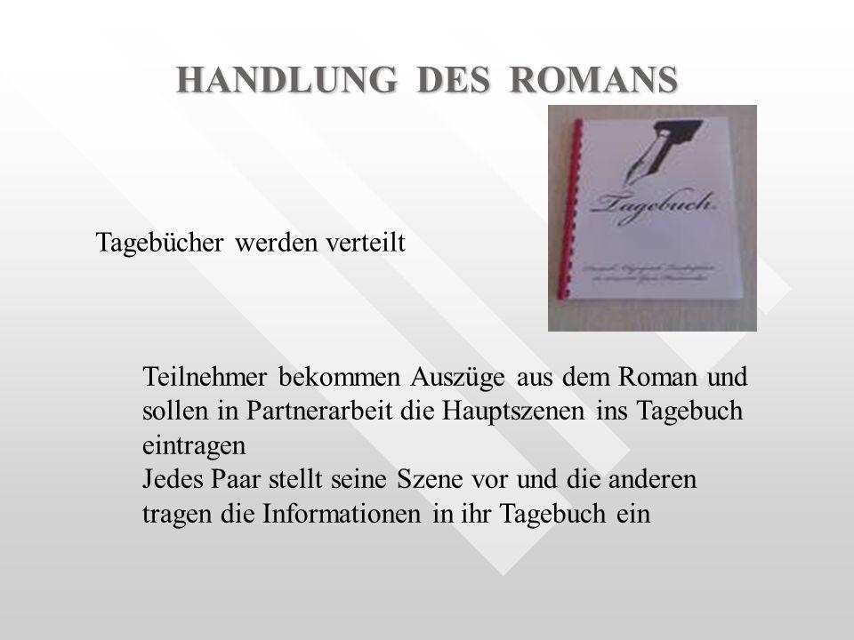 HANDLUNG DES ROMANS Tagebücher werden verteilt