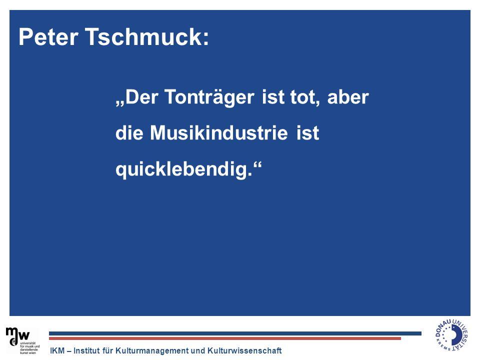 "Peter Tschmuck:""Der Tonträger ist tot, aber die Musikindustrie ist quicklebendig."
