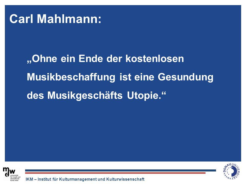 """Carl Mahlmann:""""Ohne ein Ende der kostenlosen Musikbeschaffung ist eine Gesundung des Musikgeschäfts Utopie."""