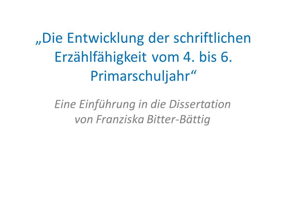 Eine Einführung in die Dissertation von Franziska Bitter-Bättig