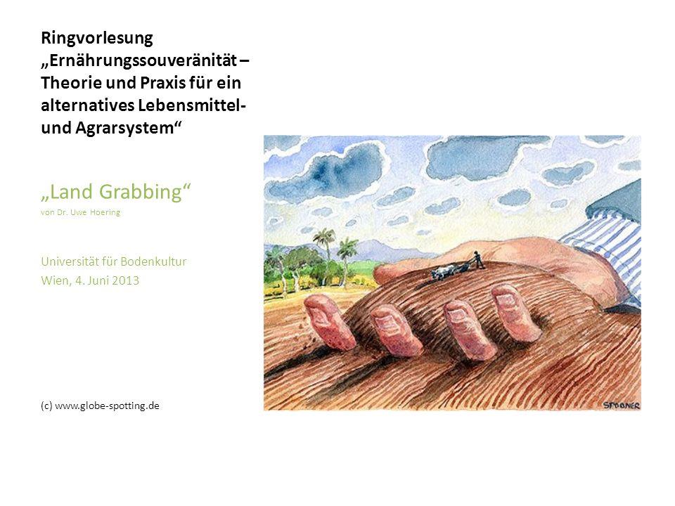 """Ringvorlesung """"Ernährungssouveränität – Theorie und Praxis für ein alternatives Lebensmittel- und Agrarsystem"""