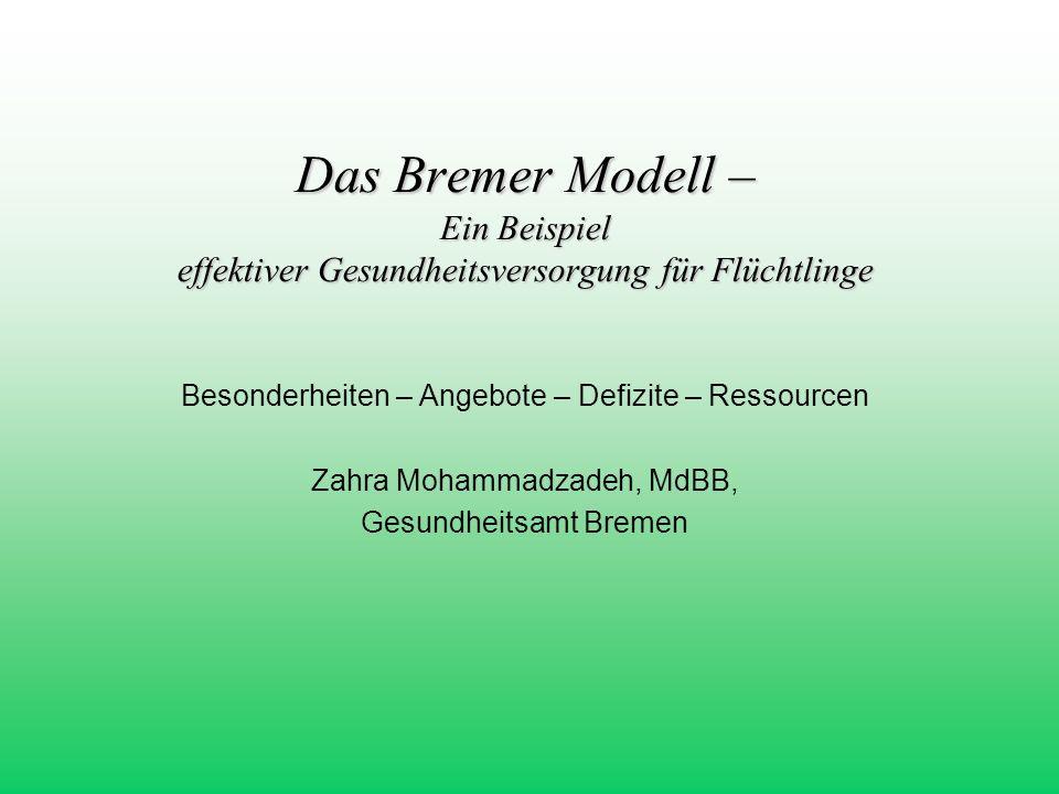 Das Bremer Modell – Ein Beispiel effektiver Gesundheitsversorgung für Flüchtlinge