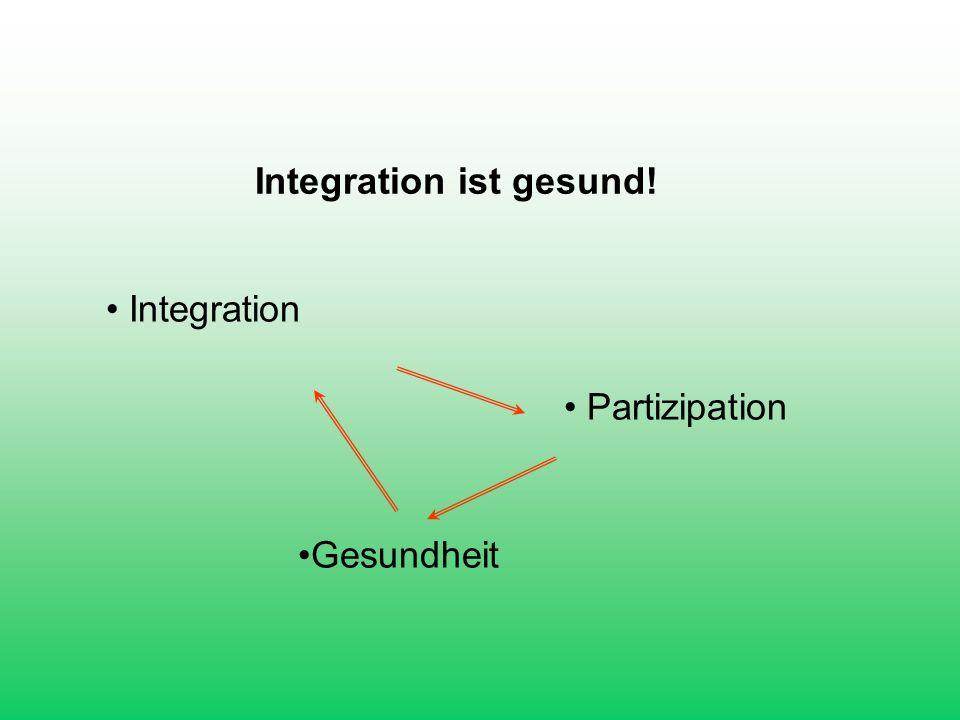 Integration ist gesund!