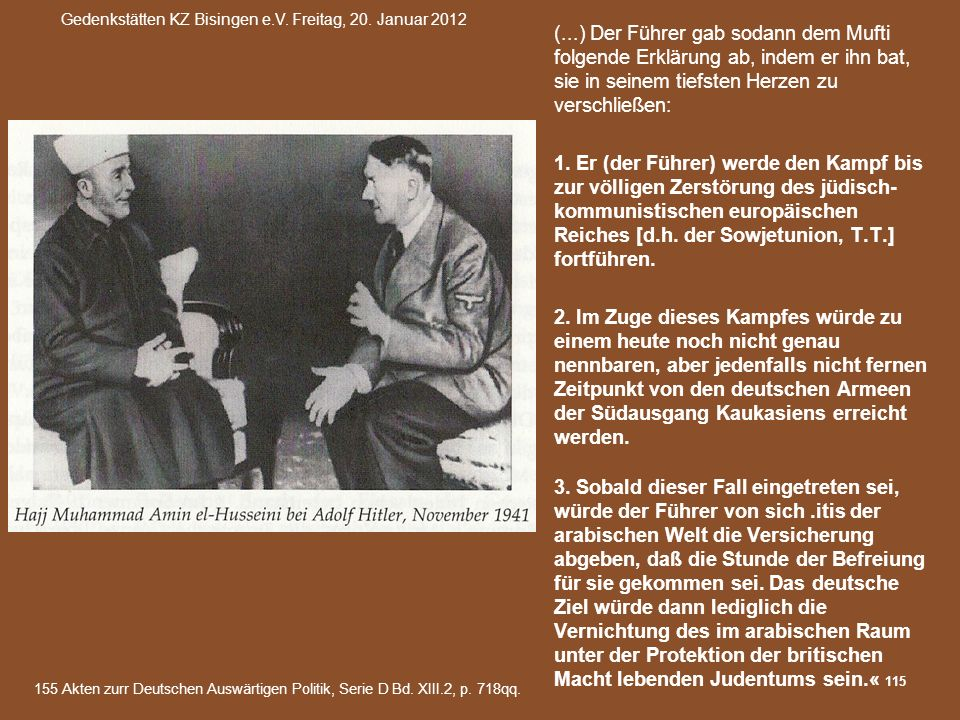 Gedenkstätten KZ Bisingen e.V. Freitag, 20. Januar 2012