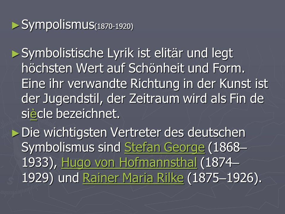 Sympolismus(1870-1920)
