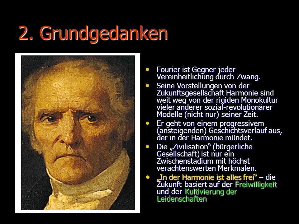 2. Grundgedanken Fourier ist Gegner jeder Vereinheitlichung durch Zwang.