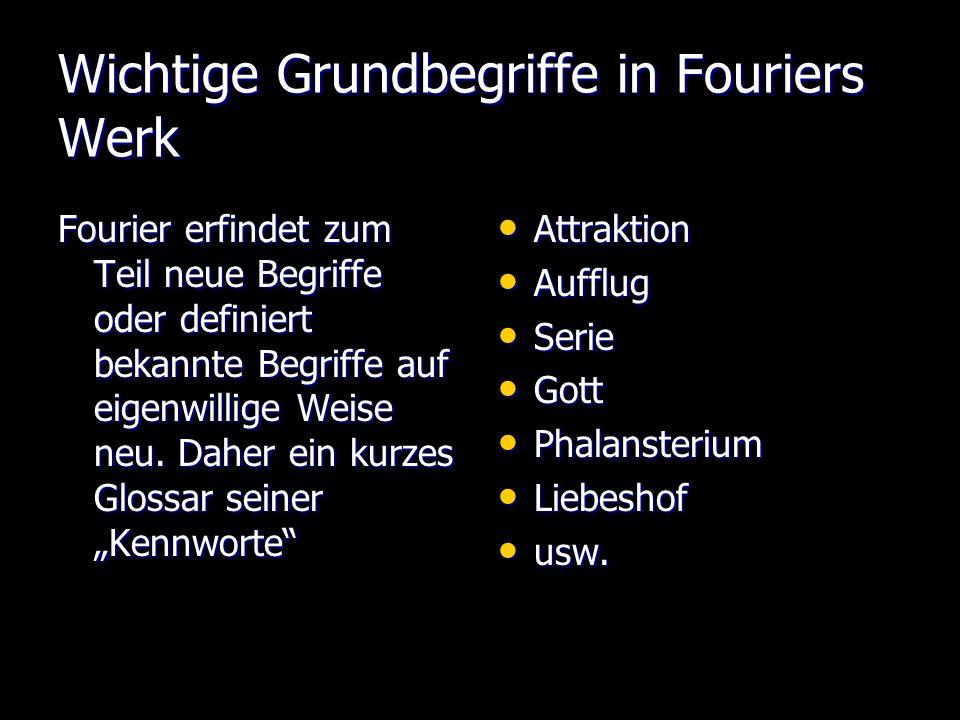 Wichtige Grundbegriffe in Fouriers Werk