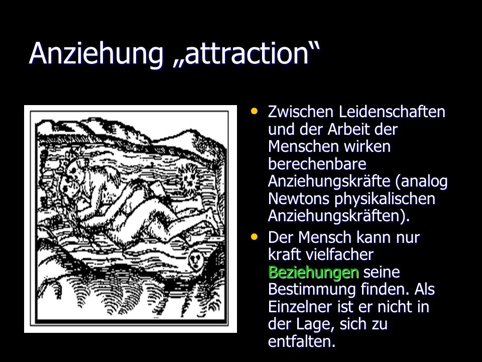 """Anziehung """"attraction"""
