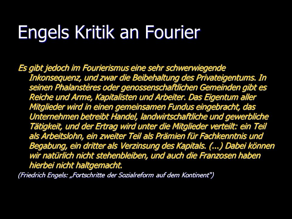 Engels Kritik an Fourier