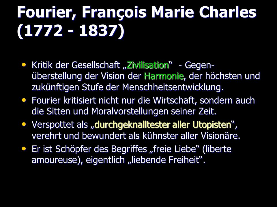 Fourier, François Marie Charles (1772 - 1837)
